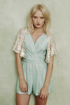 4a766fa653 sequin bolero and playsuit cute summer idea for bridesmaids instead of  dresses  ) Fashion Lighting