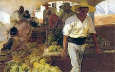 Joaquín Sorolla y Bastida (1863 - 1923). Preparing Raisins, 1900 (also known as Transporting Grapes, Javea).