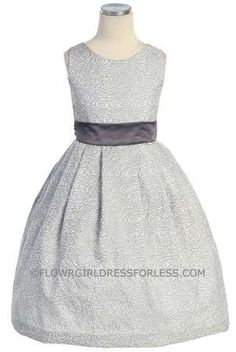 Flower girl dress - she likes this one too.  This would be so pretty in a printed fabric with a coral sash.