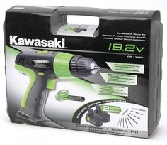 Kawasaki 840110 19.2V Cordless Drill Kit with 2 Batteries Power Tools Drills / Drivers Driver