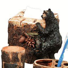 Black Bears at Play Tissue Box