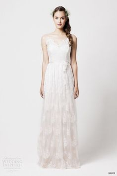 kisui 2014 elouise lace wedding dress straps