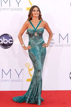 Sofia Vergara looked amazing as usual in a jaw-dropping sequin Zuhair Murad gown.