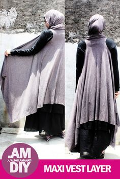 HijabLook » Collaborative Fashion, Hijab Style, Stories and Inspiration for Modern Muslim Women » DIY: MAKER YOUR OWN MAXI VEST LAYER