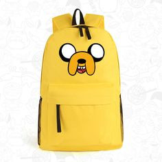 Anime Adventure Time Kawaii Jake Emoji Printing School Bags for Teenagers Canvas Backpacks for Teenage Girls Mochila Feminina  #Happy4Sales #highschool #YLEY #fashion #handbags #bagshop #bag #shoulderbags #backpack #L09582
