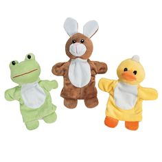 Plush Spring Hand Puppets - another great idea for an easter basket