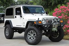 Jeep Wranglers in League City, Texas Jeep 4x4, Two Door Jeep Wrangler, Jeep Garage, 1997 Jeep Wrangler, Cj Jeep, Jeep Truck, 2006 Jeep Wrangler Unlimited, White Jeep, Pickup Trucks