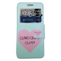 Funda Con Tapa Tipo Libro Para Huawei P10 Corazón Y La Frase Claro Que Si Guapi.