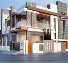 Modern Exterior House Designs, Modern House Floor Plans, Modern House Facades, Modern Bungalow House, Modern Villa Design, Latest House Designs, Modern Architecture House, Village House Design, Bungalow House Design