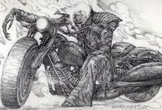 Ghost Rider sketch by Bernie Wrightson #comics #marvel