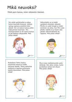 Finnish Grammar, Finnish Language, Ice Breakers, Early Childhood Education, Speech Therapy, Finland, Mindfulness, Teaching, Feelings