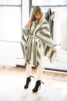 How to DIY your very own Burberry cape this fall: