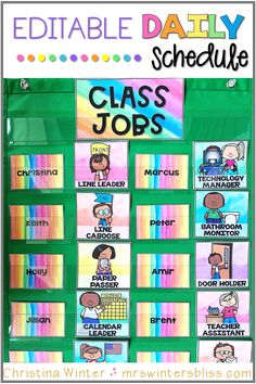 This DIY job chart for the classroom will encourage students take ownership with classroom jobs! Use this EDITABLE classroom job chart to give your students responsibility and build community in the classroom. These job chart printables have simple pictures to make it a perfect resource for preschool, kindergarten and first grade classrooms.These printables could be used to create a classroom job bulletin board or job clip chart. #classroomjobchart #classroommanagementideas #jobsintheclassroom