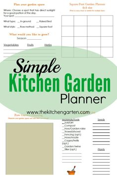 Free and simple kitchen garden planner to help you get started in any season!
