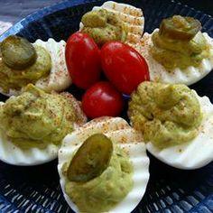 Avocado Deviled Eggs Allrecipes.com