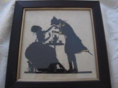 """A """"TEA for TWO"""" Paper Cutout Silhouette Wall Art/Work of Art/Rococo Style- Marie Antoinette Age Influenced Artwork/Romantic Scherenschnitte by MaisonettedeMadness on Etsy https://www.etsy.com/uk/listing/261446918/a-tea-for-two-paper-cutout-silhouette"""