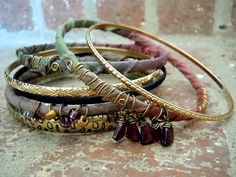 Bohemian Bracelet / Sari Silk Bangles / Gypsy Bracelet by Syrena56, $32.00 - these are fab! A must have!