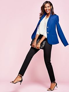 Talbots - Devon Knit Blazer | | Misses Discover your new look at Talbots. Shop our Devon Knit Blazer for stylish clothing and accessories with a modern twist at Talbots