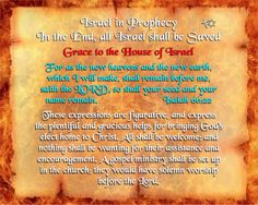 Israel in Prophecy - Grace to the House of Israel