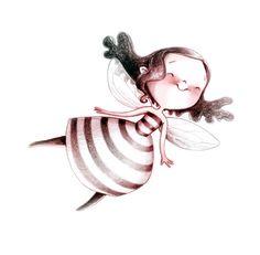 abeja, ilustración de Emmanuelle Colin