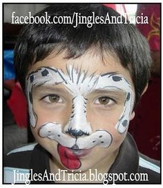 Adorable ideas for boys - Face Painting Puppy Dog