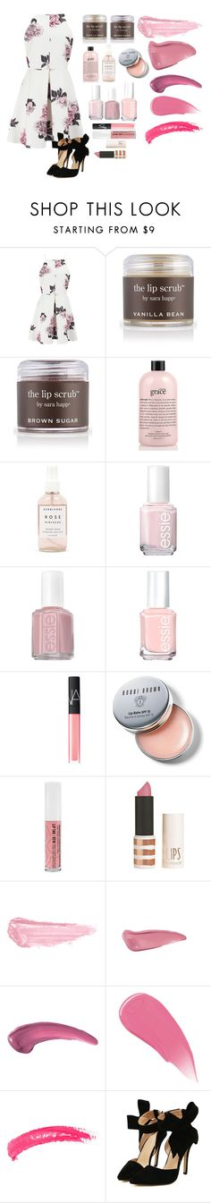 """Pink"" by taylorswift-411 ❤ liked on Polyvore featuring Cameo, Sara Happ, philosophy, Herbivore Botanicals, Essie, NARS Cosmetics, Bobbi Brown Cosmetics, Obsessive Compulsive Cosmetics, Topshop and By Terry"