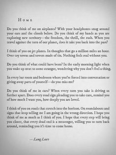 Home by Lang Leav