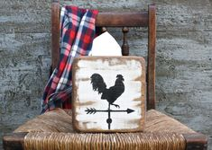 FREE SHIP Rooster Weathervane tissue holder cover box Rustic by TheUnpolishedBarn on Etsy