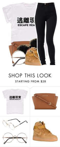 """""""A-Team"""" by drakeschild ❤ liked on Polyvore featuring MICHAEL Michael Kors, Sunday Somewhere, NIKE and WardrobeStaples"""