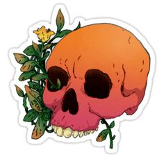 """Flower Skull"" Stickers by giannameola 