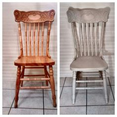 Pressback chair painted Porch Chairs, Dining Chairs, Dining Room, St Andrews, Furniture Projects, Painted Furniture, Kitchen Ideas, Table, Diy