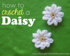 daisy crochet free pattern - really like her step by step instructions (AM 6/3)