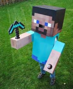 Minecraft Steve Costume How To Make @Kelly Scarbrough After all the Minecraft this weekend, I think Ayden should be this lol.