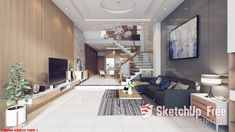 1748 Interior Living- Kitchenroom Sketchup Model By Duong Vo Free Download Sketchup Free, Sketchup Model, Palm Tree Png, Interior Decorating, Kitchen Appliances, Architecture, House, Design, Diy Kitchen Appliances
