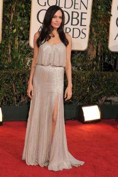 in Atelier Versace at the Golden Globe Awards.   - HarpersBAZAAR.com
