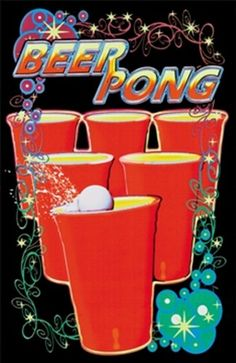 - Black Light - Beer Pong - art prints and posters