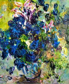 """Saatchi arte artista arte Trouve Inc; Pintura #art, """"Bluelover-No.1"""""""