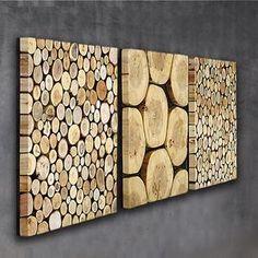 Large Wood Wall Art, Wooden Wall Decor, Wooden Walls, Wood Art, 3 Piece Wall Art, Wall Art Sets, Large Wood Slices, Mosaic Wall Art, Wood Slab