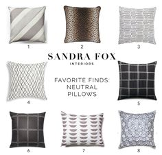 SFI Favorite Finds - Neutral Pillows
