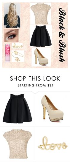 """""""Black & Blush!!"""" by undeaddemon18 ❤ liked on Polyvore featuring Chicwish, Raishma, Sydney Evan and Miss Selfridge"""