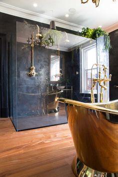 Old Mansions Interior, Mansion Interior, Dream Bathrooms, Beautiful Bathrooms, Dream Home Design, House Design, Bathroom Interior Design, Bathroom Renovations, Bathroom Inspiration