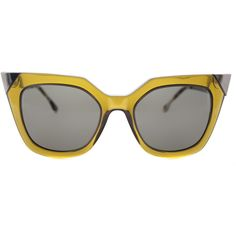 a349c2c4a2a Fendi FF 0060 MSW Iridia Square Plastic Sunglasses ( 270) ❤ liked on Polyvore  featuring accessories
