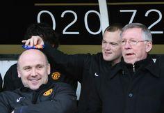 Mike Phelan, Wayne Rooney and Sir Alex Ferguson