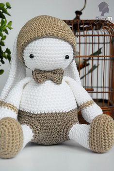 Lulu Papillon Bunny - Free Amigurumi Pattern   Such a cute little crochet friend for your little one