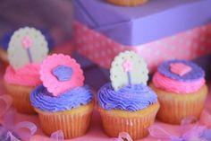 Cupcakes at a Princess Party with Such Cute Ideas via Kara's Party Ideas   KarasPartyIdeas.com #PrincessParty #Party #Ideas #Supplies #princesscupcakes