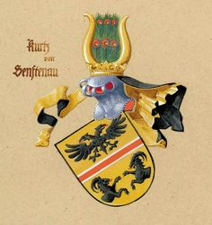 Wappen der Kurtz von Senftenau Coat of Arms of The Family Kurtz von Senftenau Family Crest, Coat Of Arms, History, Weapons Guns, Modern, Families, Historia, History Activities