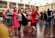 Me (second from left) with the other competing girls for Miss Heartland Swing.