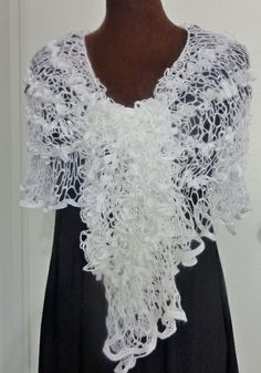 Crochet Sashay mesh yarn lightweight shawl by ...