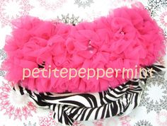 Hot Pink Zebra Baby Bloomer Diaper Cover. $6.95, via Etsy.
