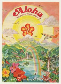 Vintage Travel USA Vintage travel poster - Hawaii - Aloha Airlines {NOTE} - Poster Title: Scarface Movie (Al Pacino, Black and White) Poster Print – Collections Poster Print, Size: 24 x 36 inches Old Poster, Retro Poster, Hawaiian Art, Vintage Hawaiian, Hawaiian Makeup, Aloha Vintage, Vintage Travel Posters, Vintage Postcards, Posters Decor
